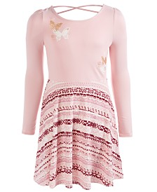 Epic Threads Big Girls Boho Butterfly Fit & Flare Dress, Created For Macy's