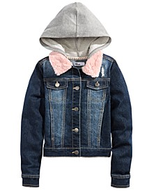 Big Girls Layered-Look Denim Jacket, Created For Macy's