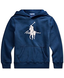 Big Boys Vintage Fleece Pink Pony Sweatshirt