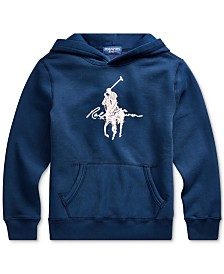 Polo Ralph Lauren Big Boys Vintage Fleece Pink Pony Sweatshirt