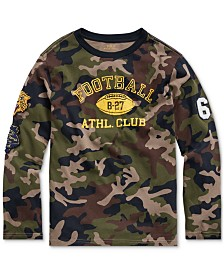 Polo Ralph Lauren Big Boys Camo Athletic Club T-Shirt