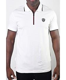Men's Basic Short Sleeve Stripe Polo