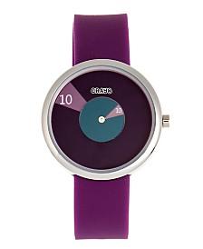 Crayo Unisex Pinwheel Purple Silicone Strap Watch 38mm