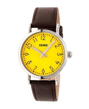 Unisex Pride Brown Genuine Leather Strap Watch 36mm
