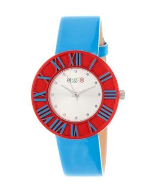 Unisex Prestige Cerulean Polyurethane Strap Watch 37mm