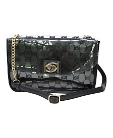 Bebe Jodie Monogram Shoulder Bag