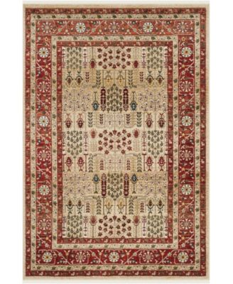 """Margaux LRL1297C Red and Beige 5'1"""" X 7'6"""" Area Rug"""