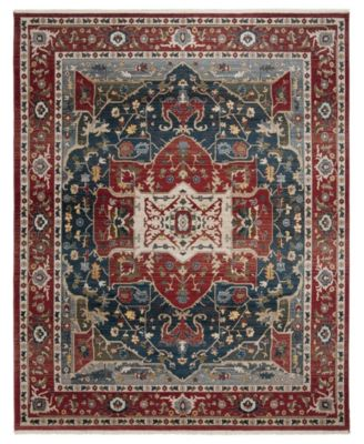 Camille LRL1225A Red and Navy 10' X 13' Area Rug