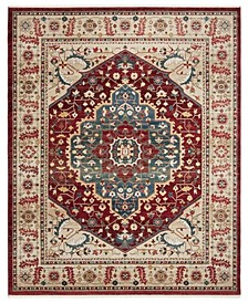 Chloe LRL1221B Beige and Red 10' X 13' Area Rug