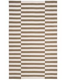 Ludlow Stripe LRL7350C Sepia 4' X 6' Area Rug