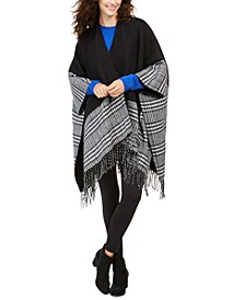 Reversible Plaid Colorblocked Topper Scarf, Created For Macy's