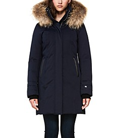 Hooded Fur-Trim Down Coat, Created for Macy's