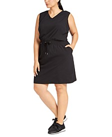 Plus Size Sleeveless Drawstring-Waist Dress, Created For Macy's