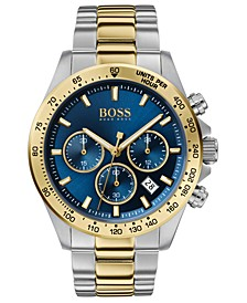Men's Chronograph Hero Two-Tone Stainless Steel Bracelet Watch 43mm