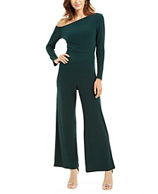 Off-The-Shoulder Jersey Jumpsuit