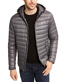 Men's Packable Down Hooded Puffer Jacket, Created for Macy's