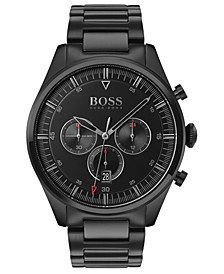 Men's Chronograph Pioneer Black Ion-Plated Stainless Steel Bracelet Watch 44mm