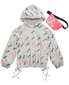 Belle Du Jour Big Girls 2-Pc. Inspire Sweatshirt & Sequined Belt Bag Set