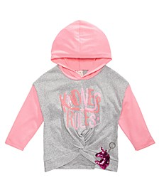 Big Girls 2-Pc. Colorblocked Hoodie and Unicorn Keychain Set