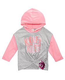 Belle Du Jour Big Girls 2-Pc. Colorblocked Hoodie and Unicorn Keychain Set