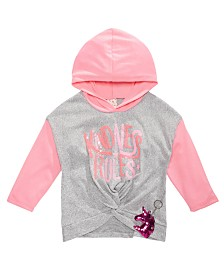 Belle Du Jour Big Girls 2-Pc. Colorblocked Hoodie and Unicorn Keychain Set