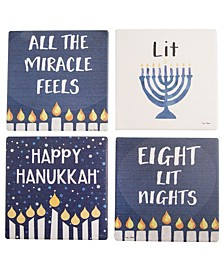 Set of 4 Hanukkah Coasters