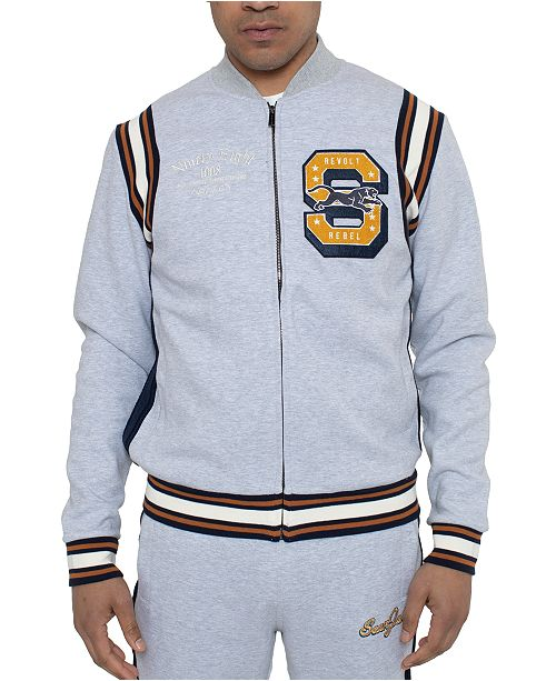 Sean John Men's Varsity Regular-Fit Logo Track Jacket