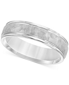 Men's Hammered Texture Band in Sterling Silver