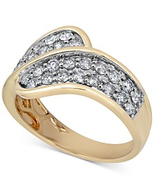 Diamond Overlap Statement Ring (1 ct. t.w.) in 14k Gold