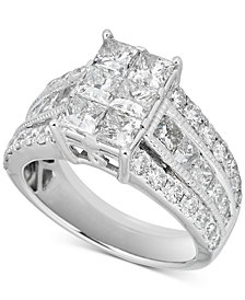 Diamond Cluster Engagement Ring (3-1/2 ct. t.w.) in 14k White Gold