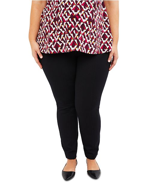 Motherhood Maternity Plus Size The Cady Secret Fit Belly Ponte Skinny Leg Pants