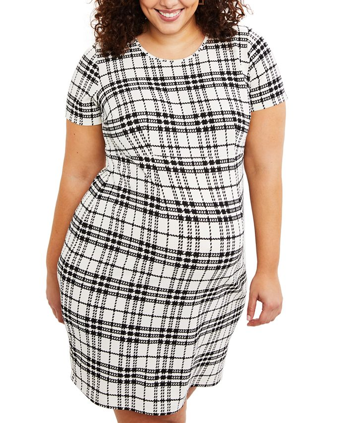 Motherhood Maternity - Maternity Plus Size Plaid Dress