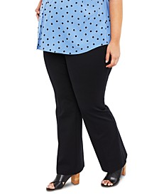 Plus Size The Cady Secret Fit Belly Ponte Bootcut Pants