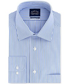 Men's Big & Tall Classic/Regular Fit Non-Iron Stretch-Collar Stripe Dress Shirt