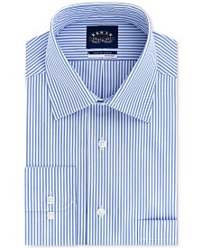 Eagle Men's Big & Tall Classic/Regular Fit Non-Iron Stretch-Collar Stripe Dress Shirt