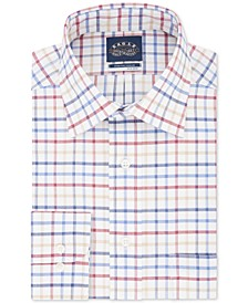 Men's Big & Tall Stretch-Collar Check Dress Shirt