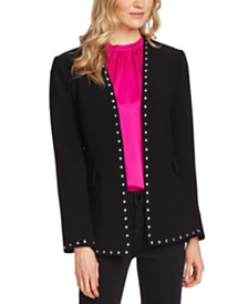 Vince Camuto Kiss-Front Studded Blazer