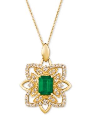 """Costa Smeralda Emerald (1-1/5 ct. t.w.) & Nude Diamond (5/8 ct. t.w.) 20"""" Pendant Necklace in 14k Gold"""