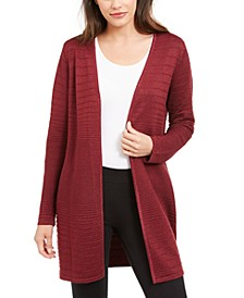 Metallic Open-Front Cardigan, Created for Macy's