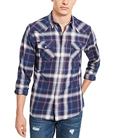 Men's Plaid Western Shirt, Created For Macy's
