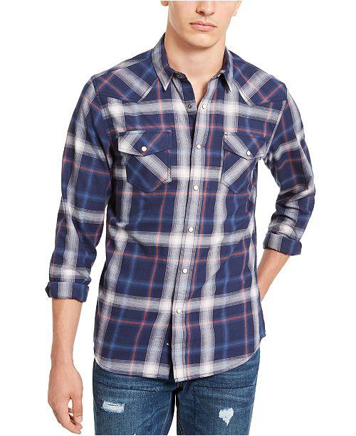 American Rag Men's Plaid Western Shirt, Created For Macy's