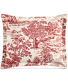 Fox Toile Flannel King Sham, Created for Macy's