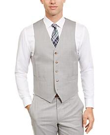 Men's Classic-Fit UltraFlex Stretch Sharkskin Suit Separate Vest