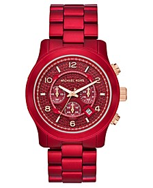 LIMITED EDITION Chronograph Runway Red Stainless Steel Bracelet Watch 45mm, Created for Macy's