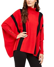 Striped Poncho Sweater, Created for Macy's