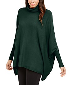 Turtleneck Poncho Sweater, Created for Macy's