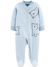 Carter's Baby Boys 1-Pc. Footed Bear Sleep and Play