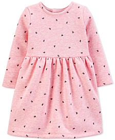 Baby Girls Bow-Print Fleece Dress