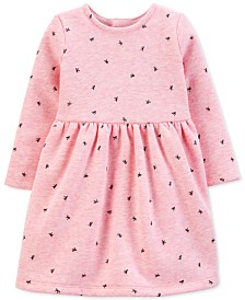 Carter's Baby Girls Bow-Print Fleece Dress