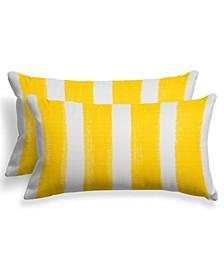 """EF Home Decor Indoor/Outdoor Reversible Lumbar Pillow 24""""X16"""" - Set Of 2"""